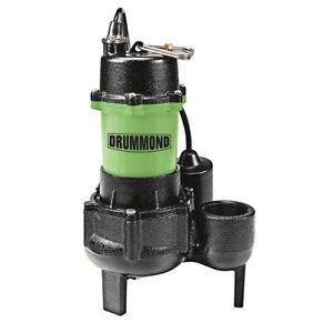 Drummond1 2 Hp Submersible Sewage Pump With Tether Switch