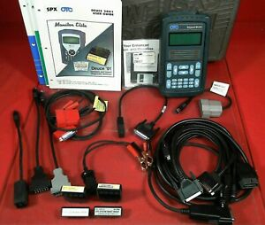 Otc Enhanced Monitor 4000 Diagnostic System Scan Tool Cartridges Case Cables