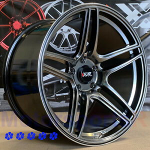 Xxr 572 Wheels 18 X9 5 10 5 25 Chromium Black Staggered 04 Ford Mustang Cobra R