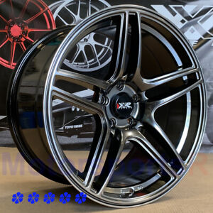 Xxr 572 Wheels 18x8 5 9 5 25 Chromium Black Staggered 5x4 5 98 Ford Mustang Svt