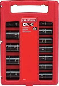 New Craftsman Impact Socket Set Metric 1 2 inch 12 piece Cmmt15887
