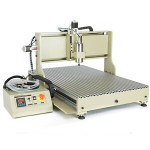 Usb 4axis 1 5kw 2 2kw 6090z Cnc Router Engraver Cutting Milling Machine Metal