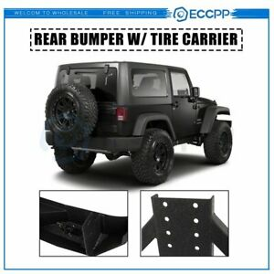 For 07 18 Jeep Wrangler Jk Assembly Textured Rear Bumper W Tire Carrier Guard