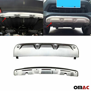 Front Rear Bumper Diffusor Bodykit 2 Pcs Alu For Honda Cr v 2012 2016