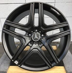 20 Wheels Fit Mercedes Ml350 Ml500 Gl450 Gl550 Gl63 R350 With Tires Satin Black
