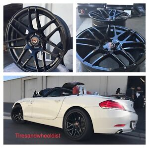 19 Curva C300 Wheels Tires Gloss Black Fit Bmw 3 5 6 Series Staggered M3 M4 Z4