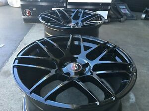 22 Inch Curva C300 Wheels Tires Black Porsche Panamera Staggered Rims Concave