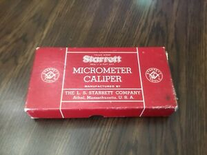 Starrett Micrometer Caliper No 436 In Box