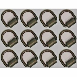 12pk 1 2 D Ring Weld on Flatbed Truck trailer Ratchet Strap Cargo Tie Down Ring