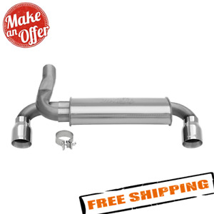 Dynomax 39528 Super Turbo Axle Back Dual Exit Stainless Steel Exhaust System