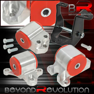For 96 00 Civic Dx Lx Ex Si D B Series Solid Engine Motor Mount Swap Kit Red
