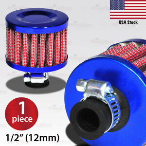 Red Blue 1 2 12mm Universal Crankcase Vent Value Cover Mini Air Breather Filter