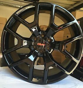 24 Inch Gmc Sierra Gloss Black Tires Rims Denali Chevy Silverado Tahoe Wheels