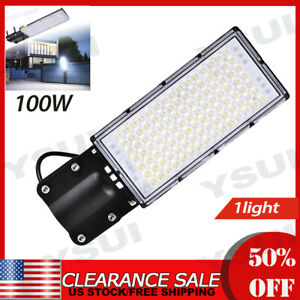1X9000LM street lamp cold white 100WD with bracket lighting commercial street $30.99