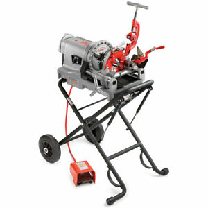 Ridgid 75602 52 Rpm 300 Compact Pipe Threading Machine W 250 Stand