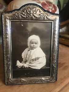 English Antique Sheffield Sterling Silver Picture Photo Frame Hallmarked 6 3 4