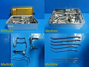 Weck Jarit Pilling Ditman D C Tray Surgical Instruments W Carrying Case 22140