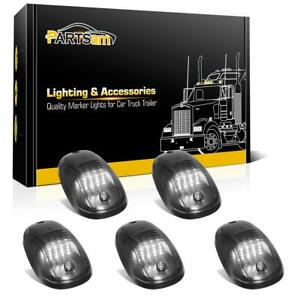 5x Top Roof Smoke Cab Marker 16 White Led Lights For Dodge Ram 2500 3500 03 18