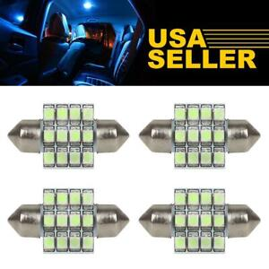 4pcs Ice Blue Led Bulbs 31mm Festoon For Interior Dome Map Lights 3021 3022 3175
