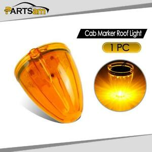 Cab Marker Clearance Lights Amber 17 Led Roof Top Lamp For Peterbilt Kenworth