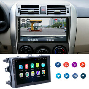 2din Android 9 1 Car Stereo Radio 9 Hd 2g 32g Gps For Toyota Corolla 2006 2012