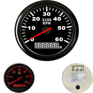33 8 Red Lcd Digital Engine 0 6000 Rpm Tacho Tachometer For Boat Car Suv Truck
