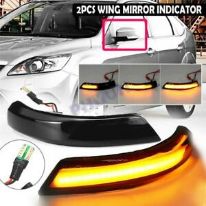 For Ford Ecosport Kuga Escape 2013 18 Led Mirror Dynamic Turn Signal Light 2x