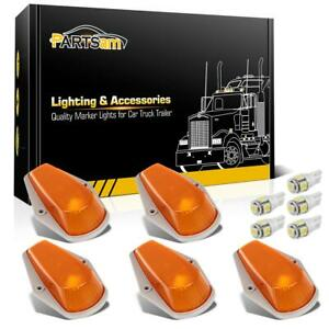 5pcs For Ford F150 F250 F350 Running Roof Top Cab Clearance Lights Amber 194 Led