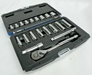Expert By Mac 20 Piece Socket Set Metric 3 8 Dr Preowned Mint Free Shipping