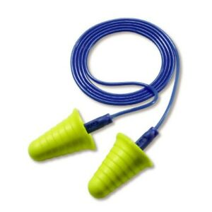 3m E a r Push ins With Grip Rings Corded Earplugs 318 1009 In Poly Bag 20