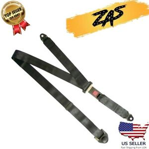 2 Set 3 Point Safety Adjustable Auto Car Seat Belt Lap Shoulder Universal Us