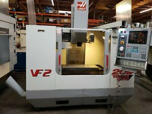 Haas Vf 2 Mfg 2001 Pcool Auger 4th Ready Powered Up