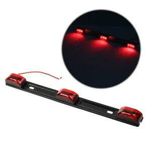 Red Clearance Id Bar Marker Light 3 Light 9 Led Trailer Sealed Lamp