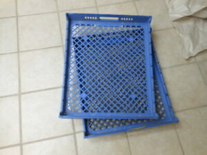 Lewis Systems Blue Plastic Stackable Nesting Bread Trays 26 l X 22 w X 4 d