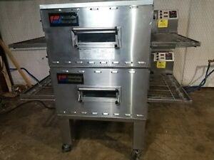 Middleby Marshall Ps840g Doublestack Nat Gas Pizza Conveyor Oven video Demo