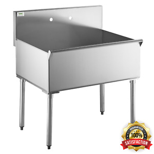36 X 24 X 14 Bowl Stainless Steel Commercial Utility Prep 36 1 Sink Bowl