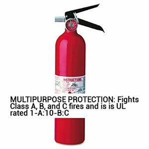 Kidde 466227 01 Abc Pro Multi purpose Dry Chemical Fire Extinguisher 1 a 10 b c
