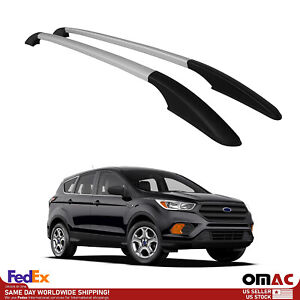 Fits Ford Escape 2013 2019 Top Roof Side Rails Bars Luggage Port Rack Bar Silver