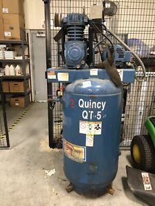 Quincy Qt Pro 5 hp 80 gallon Two stage Air Compressor With Arrow Pneumatic Dryer
