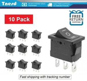 10 Pcs On off on Spdt 3 Position Micro Mini Toggle Switch 10 Amp 125v 3 Pin