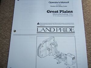 Land Pride Parts Operator Manuals For Rcp2560 Parallel Arm Rotary Cutter