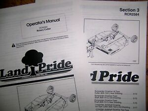 Land Pride Rcr2584 Rotary Cutter Parts Operator Manuals