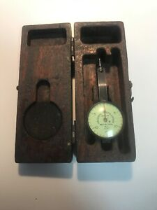 Vintage Federal Testmaster Dial Indicator Jeweled 001 With Case b2