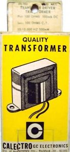 Vintage Calectro Transformer Many Types And Ratings Available