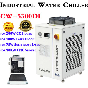 Us 110v S a Cw 5300di Industrial Water Chiller For 200w Co2 Laser Cnc Spindle
