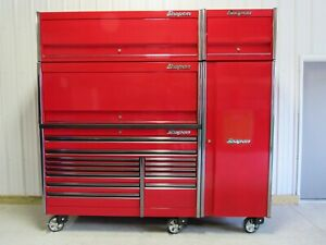 Snap On Candy Apple Red 68 Epiq Tool Box Hutch Locker 2 Overhead Cabinets