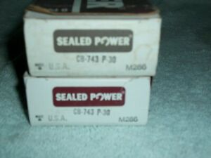 Set Big Block Chevy Sealed Power Cl77 Clevite Rod Bearings Usa Cb743p 30 Bbc