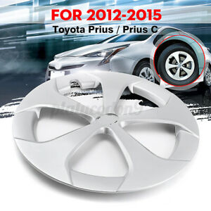 Fits For Toyota Prius Prius C 2012 2015 Hubcap Wheel Cover Silver Us Stock