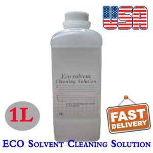 Us Stock 1l Compatible Eco Solvent Ink Cleaning Solution