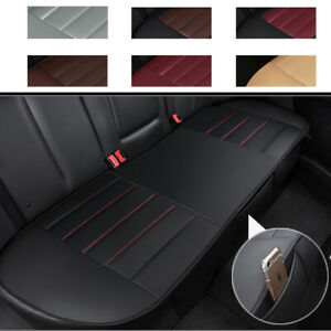 Deluxe Leather Car Rear Seat Cover Back Bench Cushion Full Protector Universal